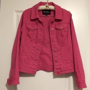 Guess Jean jacket in hot pink!